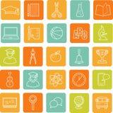 Flat education icons Royalty Free Stock Photo