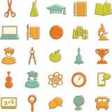 Flat education icons Stock Image