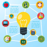 Flat education infographic background. Stock Images