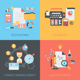 Flat education, training, online tutorial, e-learning concept Stock Images