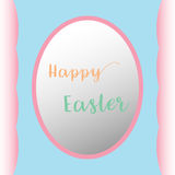 Flat eggs happy easter background Stock Photo