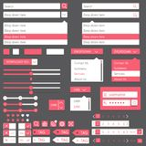 Flat elements design, ui set. Vector Royalty Free Stock Photography