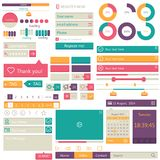Flat elements design, ui set. Vector Stock Image