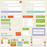 Flat elements design, ui set. Vector Stock Images