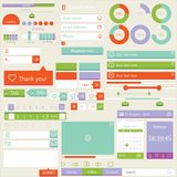 Flat elements design, ui set. Vector Royalty Free Stock Photos