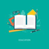 Flat  elements of education Royalty Free Stock Image