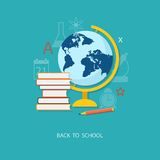 Flat  elements of education Royalty Free Stock Images