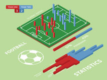 Flat Elements Of Football Match Infographics. Vector Illustratio Royalty Free Stock Images