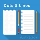 Flat elements: notepads Royalty Free Stock Photography