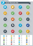 Flat email icon set Royalty Free Stock Photo