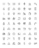 Flat energy icons. Vector black flat energy icons on white Royalty Free Stock Image
