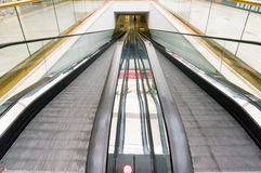 Flat escalators moving Stock Photos