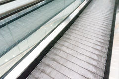 Flat escalators moving Royalty Free Stock Photos