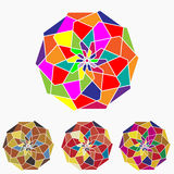 Flat ethnic Colorful geometrical ornament tiles. Flat pattern. Colore geometrical ornament tiles. Eps10 Royalty Free Stock Photo