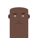 Flat face bald angry man avatar vector character Royalty Free Stock Photography