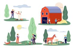 Free Flat Farmers. Harvest Time, Farm Flat Vector Concepts. Agricultural Workers, Rural Life Royalty Free Stock Photo - 159818115