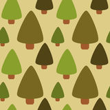 Flat fir forest seamless pattern background illustration. Flat fir forest seamless vector pattern background illustration Royalty Free Stock Photography