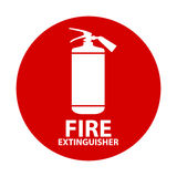 Flat Fire Extinguisher Icon with Place for Inscription.. Vector Illustration. EPS10 Royalty Free Stock Images