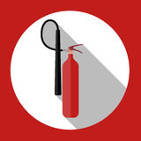 Flat Fire Extinguisher Icon with Place for Inscription.. Vector Illustration. EPS10 Royalty Free Stock Photo