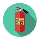 Flat Fire Extinguisher Icon with Place for Inscription. Vector Illustration. EPS10 Royalty Free Stock Photography
