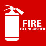 Flat Fire Extinguisher Icon with Place for Inscription. Vector Illustration. EPS10 Stock Photography