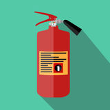 Flat Fire Extinguisher Icon with Place for Inscription. Vector Illustration. EPS10 Stock Images