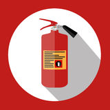 Flat Fire Extinguisher Icon with Place for Inscription.. Vector Illustration. EPS10 Royalty Free Stock Photography