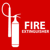 Flat Fire Extinguisher Icon with Place for Inscription.. Vector Illustration. EPS10 Stock Images