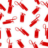 Flat Fire Extinguisher Seamless Pattern Background. Vector Illustration. EPS10 Royalty Free Stock Images