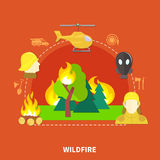Flat Firefighting Illustration Stock Photos