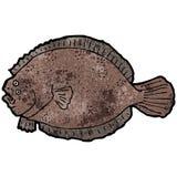 Flat fish illustration Royalty Free Stock Images