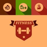 Flat fitness design elements Stock Image