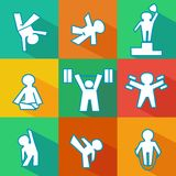 Flat fitness icons Royalty Free Stock Image
