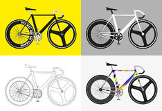 Flat fixed gear bicycle vector illustration Stock Images