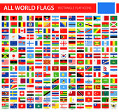 Flat Flag Icons - All World Vector. Illustration Stock Images