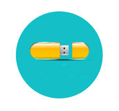 Flat flash USB icon Stock Images