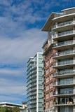 Flat of flatgebouw royalty-vrije stock afbeeldingen