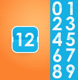 Flat flip clock icon with numbers Stock Photos