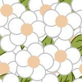 Flat flower pattern stock illustration