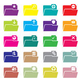 Flat folder icon set of 20 Stock Photography