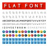 Flat font Royalty Free Stock Images