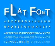Flat font Royalty Free Stock Photos