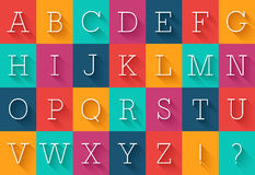 Flat font with shadow effect. Royalty Free Stock Photo