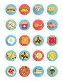 Flat Food icons. 20 Different flat style food icons Stock Illustration