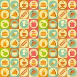 Flat Food Seamless Background Stock Photo