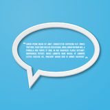 Flat frame speech bubble icon for text quote Royalty Free Stock Photo