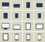 Flat gadgets collection Stock Photography