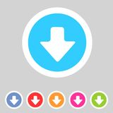 Flat game graphics icon arrow down Royalty Free Stock Image
