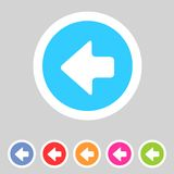 Flat game graphics icon arrow left Royalty Free Stock Photography