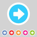 Flat game graphics icon arrow right Royalty Free Stock Image